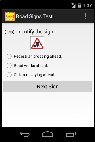 Road And Traffic Signs Test screenshot 2