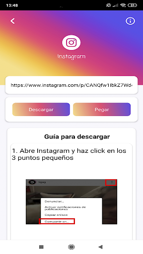Download videos, images and statuses screenshot 2