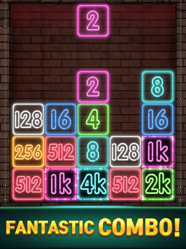 Drop Number : Neon 2048 capture d ecran 12