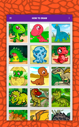 How to draw cute dinosaurs step by step, lessons screenshot 20