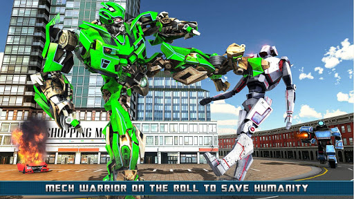 Flying Helicopter Robot Transform War Robot Hero screenshot 2