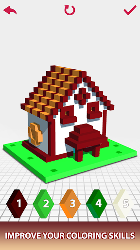 House Voxel Paint by Number screenshot 8
