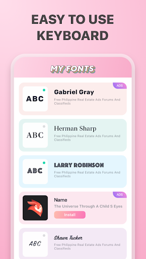 My fonts screenshot 2