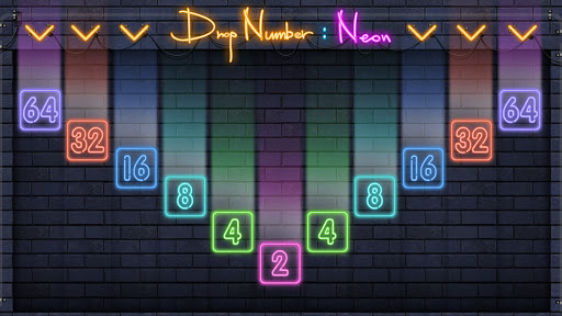 Drop Number : Neon 2048 Bildschirmfoto 1