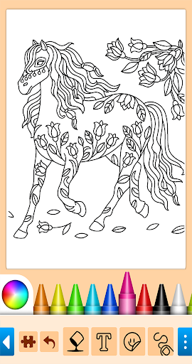 Coloring game for girls and women screenshot 2