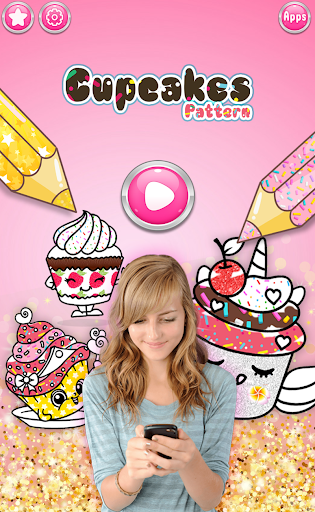 Cupcakes Coloring Book Pattern screenshot 1