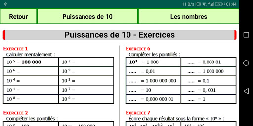 Maths Seconde screenshot 7
