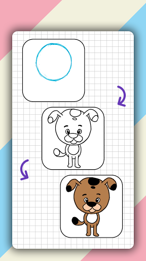 How to draw cute animals step by step, lessons screenshot 6