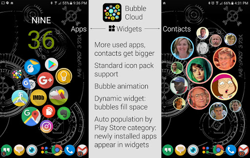 Bubble Cloud Widgets + Folders for phones/tablets screenshot 1