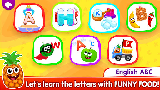 Funny Food!🥦learn ABC games for toddlers&babies📚 screenshot 1