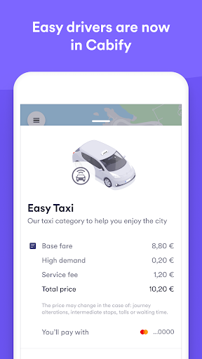 Easy Taxi, a Cabify app screenshot 1