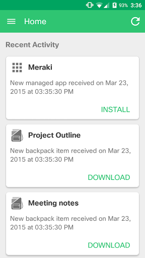 Meraki Systems Manager screenshot 1