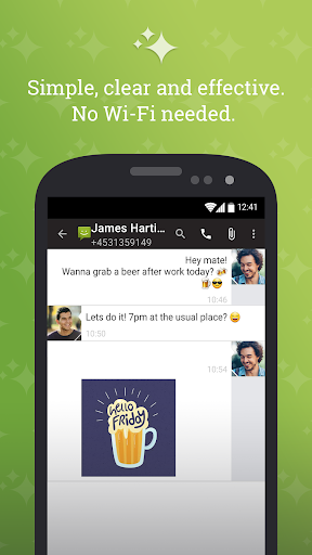 SMS From Android 4.4 screenshot 1