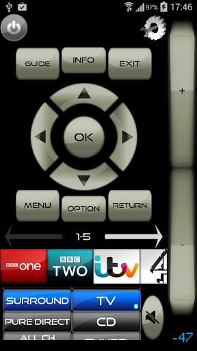 Unofficial Sky Remote Control with Smart TV Volume screenshot 2