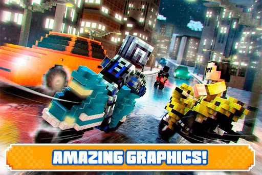 Blocky Superbikes Race Game - Motorcycle Challenge 屏幕截图 6