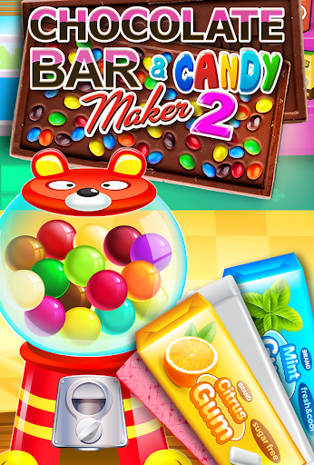 Chocolate Candy Bars Maker & Chewing Gum Games screenshot 1