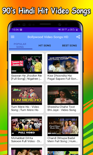 Bollywood Video Songs HD screenshot 1