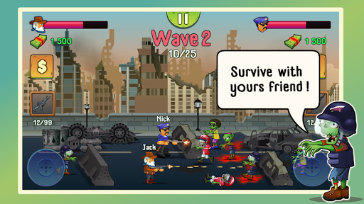 Two guys & Zombies (two-player game) screenshot 1