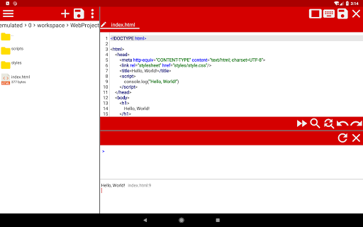 WebCode - ide for html, css and javascript screenshot 8