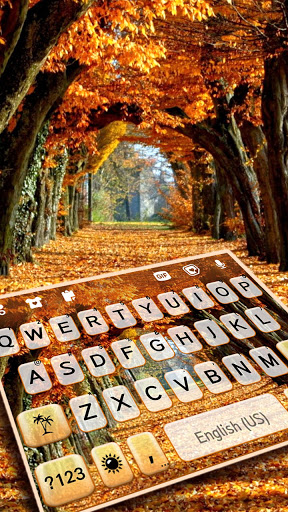 Autumn Trees Keyboard Background screenshot 1