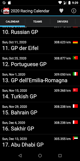 Racing Calendar 2020 (No Ads) screenshot 2