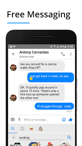 Messenger Pro for Messages, Video Chat for free screenshot 2