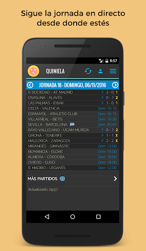 Quiniela screenshot 1