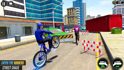 US Police BMX Bicycle Street Gangster Chase screenshot 4