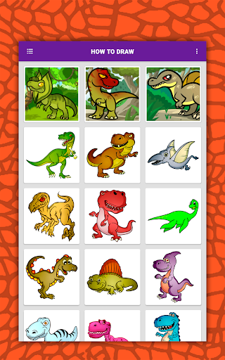 How to draw cute dinosaurs step by step, lessons screenshot 18