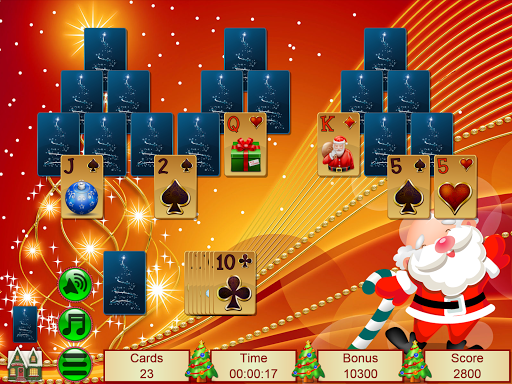 Xmas TriPeaks, card solitaire, tournament edition screenshot 18