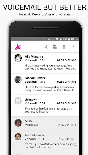 HulloMail Voicemail screenshot 1
