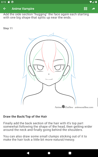 How to draw anime step by step screenshot 17