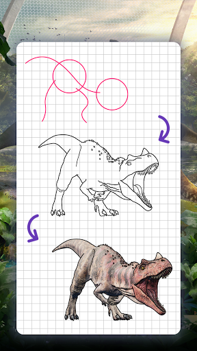 How to draw dinosaurs. Step by step lessons screenshot 4