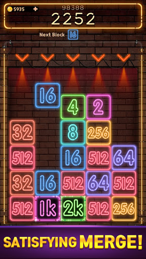 Drop Number : Neon 2048 capture d ecran 4