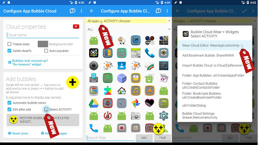 Bubble Cloud Widgets + Folders for phones/tablets screenshot 24
