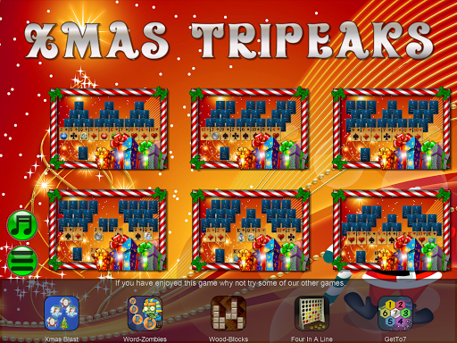 Xmas TriPeaks, card solitaire, tournament edition screenshot 14