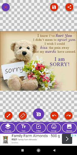 I Am Sorry: Greetings, Photo Frames, GIF Quotes screenshot 2
