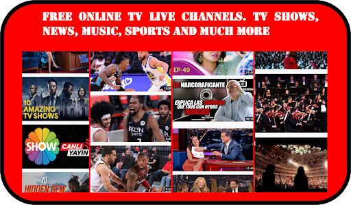 Free tv online. Streaming and live channels screenshot 1