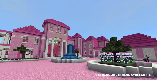 Pink house with furniture. Craft maps and mods 屏幕截图 3