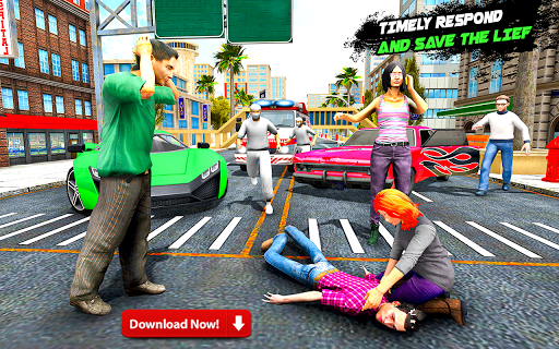 Highway Police Car Racing & Ambulance Rescue screenshot 2