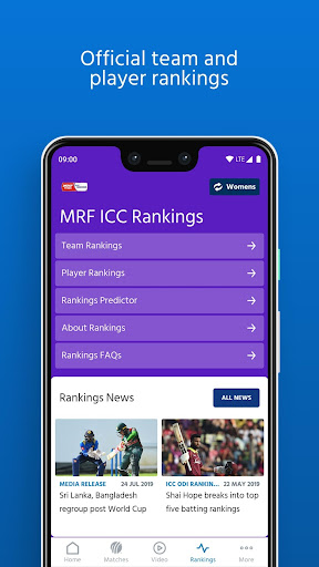 ICC - Live International Cricket Scores & News screenshot 5
