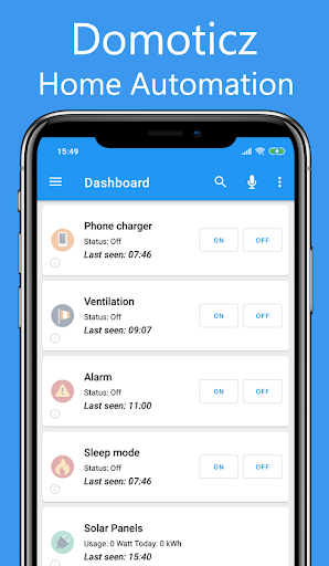 Domoticz Home Automation Lite screenshot 1