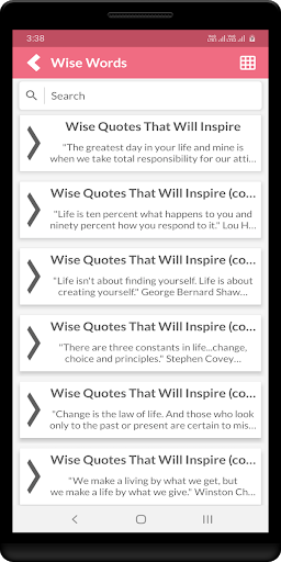 Wise Words captura de pantalla 5