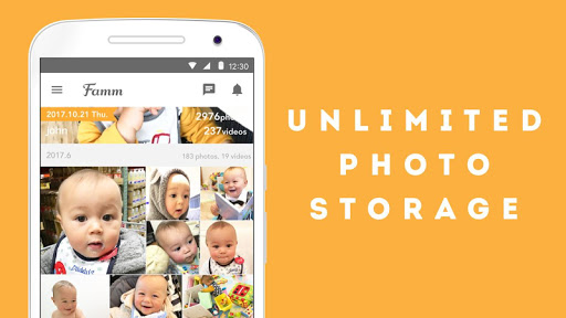 Famm - photo & video storage for baby and kids. screenshot 2