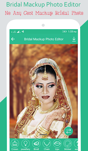 Bridal Mackup Photo Editor screenshot 1