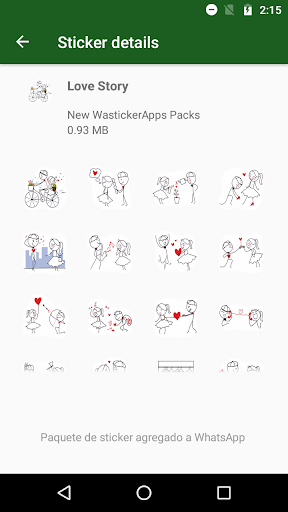 ANIMATED Stickers Love In love WAstickerApps screenshot 1