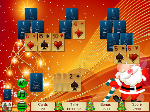 Xmas TriPeaks, card solitaire, tournament edition screenshot 13