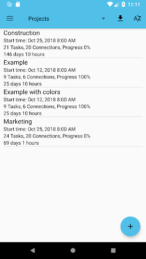 Project Schedule Free screenshot 1