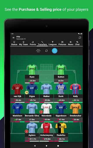 (FPL) Fantasy Football Manager for Premier League screenshot 1