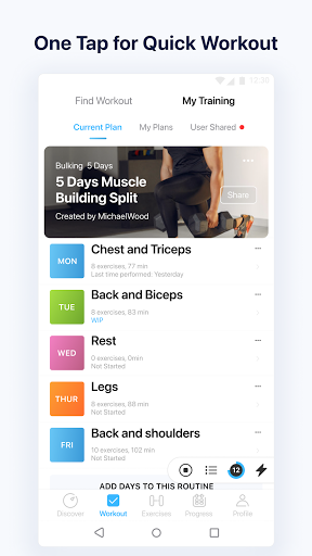 JEFIT Workout Tracker, Weight Lifting, Gym Log App screenshot 6